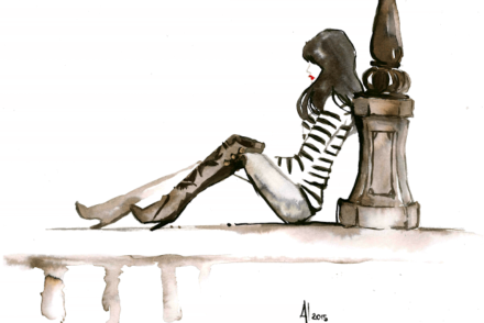 aldraws fashion digital illustration paris girl