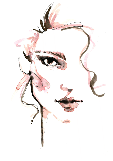 aldraws fashion digital illustration lea seydoux