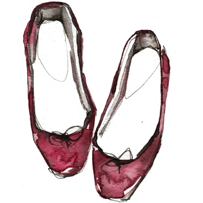 aldraws fashion digital illustration repetto shoes flats ballerinas ballet