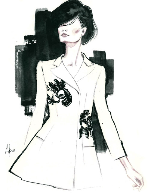 aldraws fashion digital illustration dior couture