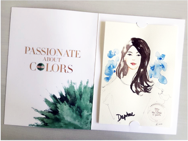 Alessia Landi Fashion illustration live sketch Piaget event Singapore