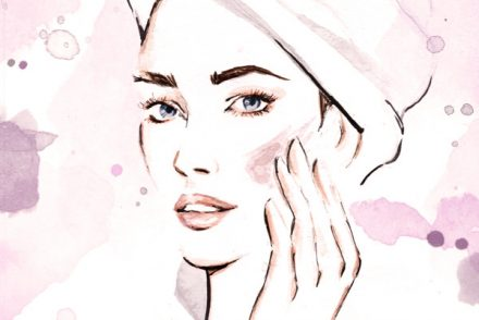 Alessia Landi Beauty Illustration Fashion Illustration skincare watercolor Aldraws beauty routine