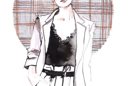 plaid checks blazer trend fashion illustration ink alessia landi aldraws
