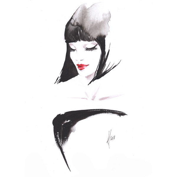 Alessia Landi Beauty Fashion illustration watercolour