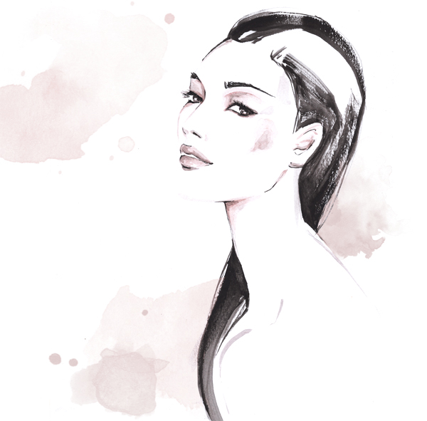 Beauty Skincare illustration Alessia Landi Al Draws watercolor